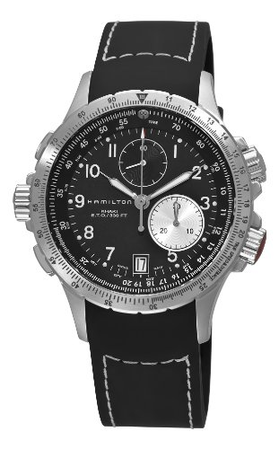 Hamilton Men's H77612333 Khaki ETO Black Chronograph Dial Watch