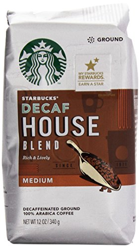 Starbucks Decaffeinated House Blend Ground Coffee (Medium), 12 Oz