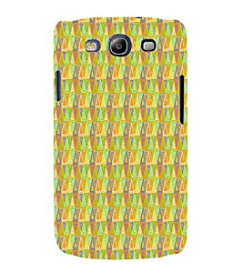 Triangle Shape Pattern 3D Hard Polycarbonate Designer Back Case Cover for Samsung Galaxy S3 Neo :: Samsung Galaxy S3 Neo i9300i