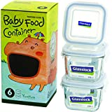 Glasslock 6-Piece Square Baby Box Set, Mini
