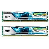 シリコンパワー デスクトップPC用 メモリ ヒートシンク付 240Pin DIMM DDR3-1600 (PC3-12800) 4GB×2枚 1.5V CL9 (無期限保証) SP008GBLTU169ND2
