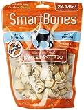 SmartBones Sweet Potato Dog Chew, Mini, 24-count