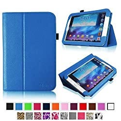 Fintie Slim Fit Folio Case Cover Support Automatic Sleep/Wake Feature for Samsung Galaxy Note 8.0 inch Tablet GT-N5100 / N5110 - Blue