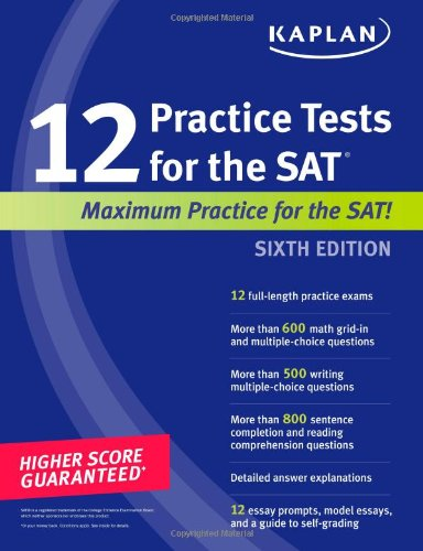 Kaplan 12 Practice Tests For The Sat front-894315