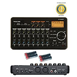 Tascam DP-008EX 8-Track Digital Pocketstudio and 4 Free Universal Electronics AA Batteries Bundle with 1 Year Free Extended Warranty