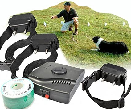 Esky Waterproof Hidden In-ground Electronic Fence Dog Shock Collar System with 3 collars at Sears.com