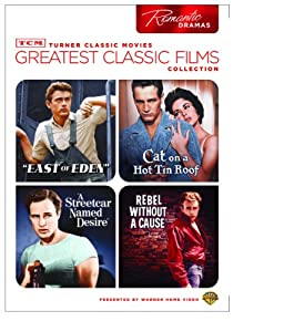 Tcm Greatest Classic Films Collection Romantic Dramas East Of Eden Cat On A Hot Tin Roof A Streetcar Named Desire Rebel Without A Cause from Turner Classic Movie