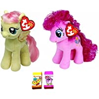 Ty Beanie Babies My Little Pony Bundle Set Of 2 Plush Toys Small 6 Pinkie Pie And Fluttershy With Bonus Two Fruit...