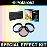 Polaroid Optics 3 Piece Special Effect Lens Filter Kit (Soft Focus, Revolving 4 Point Star, Warming) For The Sony Alpha NEX-C3, NEX-7, NEX-6, NEX-5N, NEX-5R, NEX-5, NEX-3, NEX-3N, NEX-F3 Digital SLR Cameras Which Have The Sony E Series (16mm, 18-55mm, 50