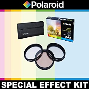 Polaroid Optics 3 Piece Special Effect Lens Filter Kit (Soft Focus, Revolving 4 Point Star, Warming) For The Nikon D40, D40x, D50, D60, D70, D80, D90, D100, D200, D300, D3, D3S, D700, D3000, D5000, D3100, D3200, D3300, D7000, D5100, D4, D4s, D800, D800E, D600, D610, D7100, D5200, D5300 Digital SLR Camerass Which Have The Nikon (105mm, 20mm, 85mm) Lens