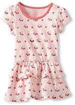 egg by susan lazar Baby-Girls Infant Jersey Short Sleeve Drop Waist Dress, Cherry, 3-6 Months