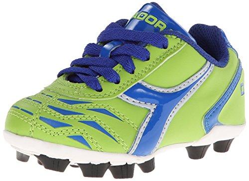 Diadora Capitano MD JR Soccer Shoe (Little Kid/Big Kid), Lime Green/Dark Royal, 1.5 M US Little Kid (Shoes For Kids Online)