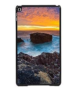 printtech Beach Sunset Sea Ocean Back Case Cover for Apple iPad 6