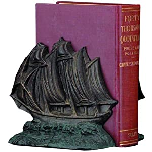 Old-Time Clipper Ship Bookends Multicolor - R10T