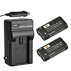 DSTE 2x CR-V3 Battery + DC78 Travel and Car Charger Adapter for Olympus C3000 C3040 C-40Z 2100UZ 3030 3040Z 4000 5050 740 750 730 4040 3020 D390 D510 Camera as LB-01