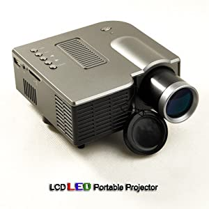 CHEAP UC20 Mini 60 INCH Multimedia LED Projector With Media Player: MP3, MP4, TXT. Support 3 IN 1 AV & SD card in & USB INPUT, Speaker