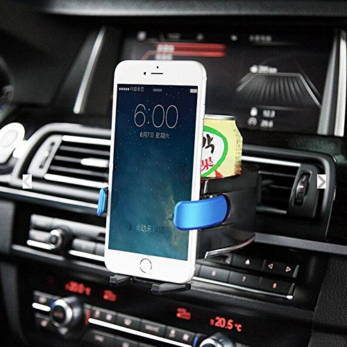 VTEK Car Cup Phone Holder Beverage Holder Hard Clip-on Holder Air Conditioner Vent Mount Insert Soft Drink Beverage Water Coffee Cup Bottle with Adjust Size For Vehicle Automobile (Air Conditioner Phone Holder compare prices)