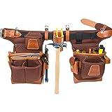 Occidental Leather 9855LH Adjust-to-Fit Fat Lip Tool Bag Set - Cafe - Left (Tamaño: left hand)