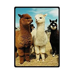 Fashion intimate llama Long neck Soft Fleece Blankets and throws 58 X 80 inch (Large) Christmas gift