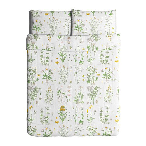 Ikea Strandkrypa Duvet Cover and Pillowcases, Full/Queen, White (Ikea Sheets Queen compare prices)