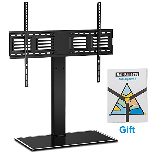 Fitueyes Universal TV Stand with Swivel mount Height Adjustable for 60inch to 80 inch TV FTT107003GB (Tabletop Pedestal Stand compare prices)