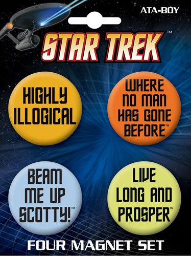 Licensed Star Trek Quotes Magnet Set