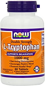 Now Foods L-tryptophan 1000mg, Tablets, 120-Count