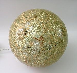 beleuchtete deko kugel mosaikglas gold ca 20 cm k che haushalt. Black Bedroom Furniture Sets. Home Design Ideas