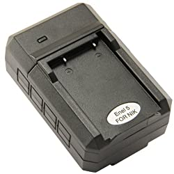 STK's Nikon EN-EL5 Battery Charger - for Nikon Coolpix P500, P510, P100, P90, P80, P6000, P5100, P5000, 5200, 7900, S10, P4, 4200, 5900, 3700, P3, ENEL5, MH-61 by Sterling Publications
