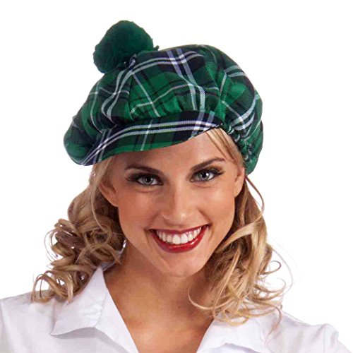 Forum Novelties Men's Green Plaid Cap, Plaid, One Size - 1