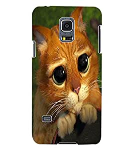 ColourCraft Cute Cat Design Back Case Cover for SAMSUNG GALAXY S5 MINI