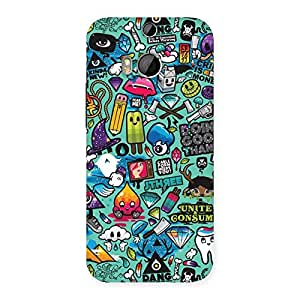 Delighted Premier candy Multicolor Back Case Cover for HTC One M8