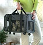 Rolling Pet Mesh Travel Carrier