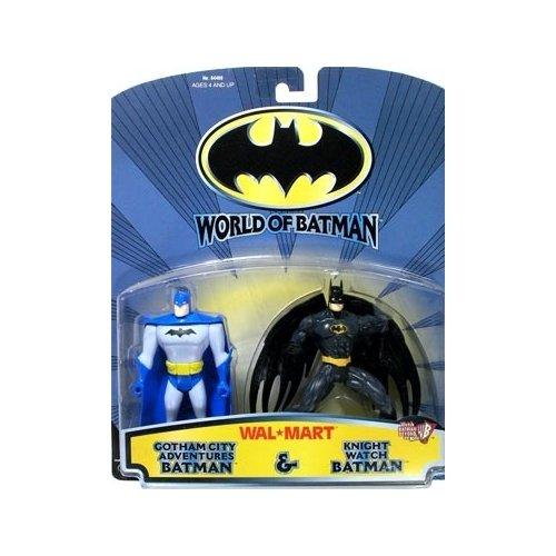 Batman: World of Batman Gotham City Adventures Batman and Knight Watch Batman Action Figure 2-Pack - 1