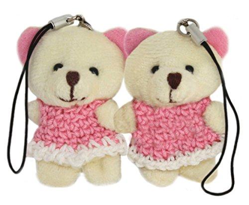 lucore-mini-2-white-bear-plush-stuffed-animal-toy-charms-2-pcs-phone-purse-decorations-w-dust-plugs
