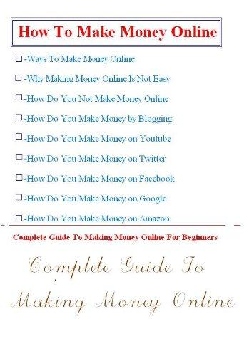 How To Make Money Online-Complete Beginner Guide