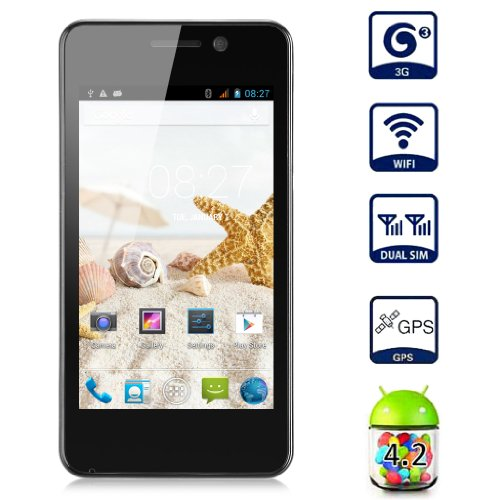 Unlocked MYSAGA C1 4.0 Inch 3G Smartphone Android 4.2 MTK6572W Dual Core Mobile Phone Dual SIM Card Dual Standby... Black Friday & Cyber Monday 2014