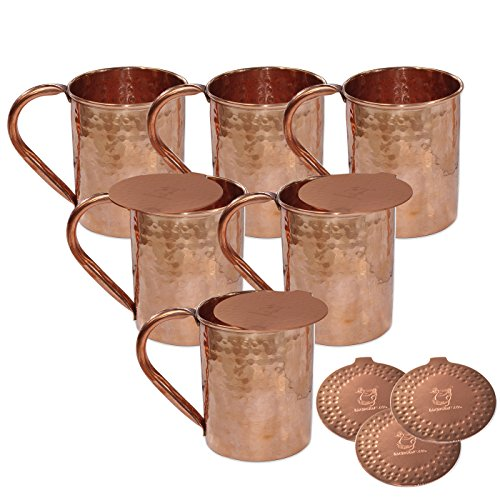 cwc-bicchieri-accessori-hammered-copper-moscow-mule-mug-set-di-6-tazze