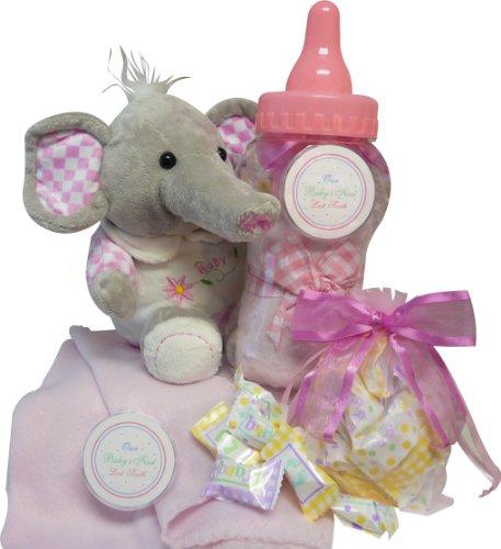 Imagen de Arte de Cestas de Regalo Appreciation dulce de la niña Savings Bank Regalo Set Elefante de peluche con