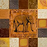 African Collage II By Pinto, Patricia - Fine Art Print On ARCHIVAL PAPER : 23.25 X 23.25 Inches
