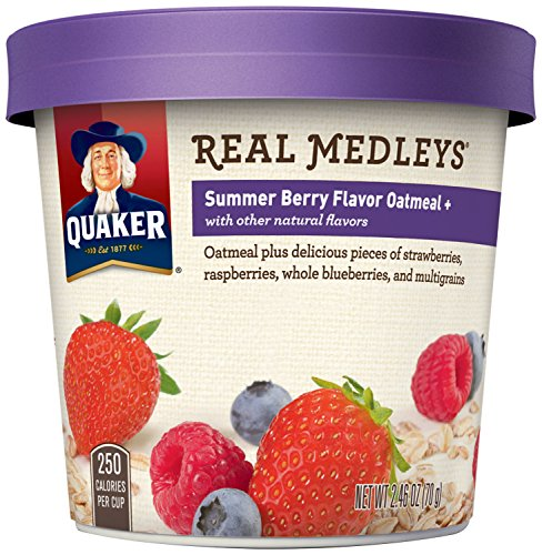 Quaker Real Medleys Oatmeal+, Summer Berry, Instant Oatmeal+ Breakfast Cereal, (Pack of 12) (Quaker Multigrain Hot Cereal compare prices)