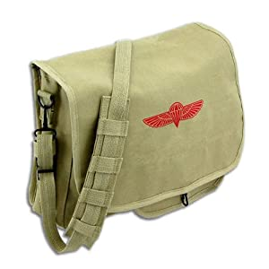 Retro Canvas Paratrooper Messenger Bag by