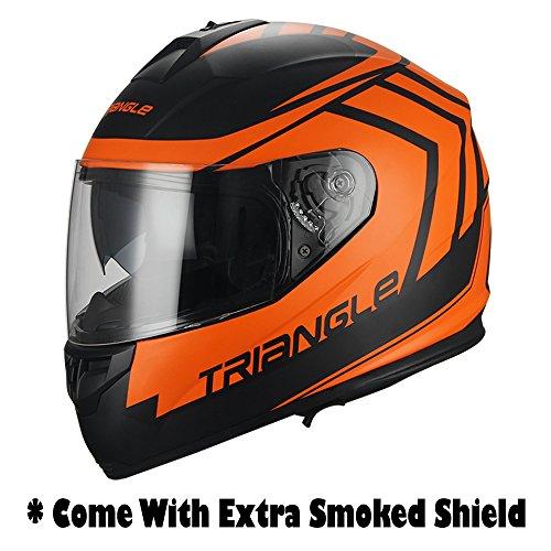Full-Face-Arrow-Dual-Visor-Street-Bike-Motorcycle-Helmet-for-Triangle-DOT