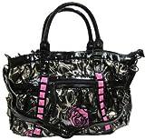 IRON FIST Muerte Punk Princess Handbag (Charcoal/Pink)