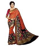 Sheesha Orange Pure Cotton Bhagalpuri Saree