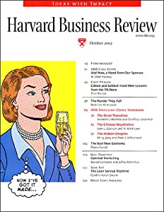 Harvard Business Review, October 2003 Periodical