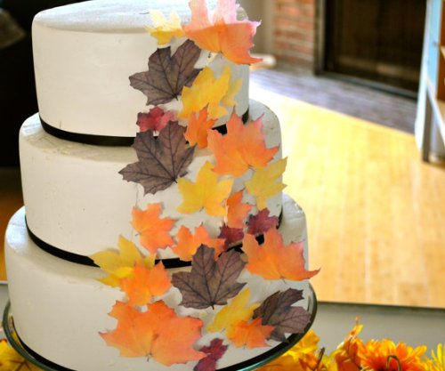 Edible Fall Leaves - Set of 32 - Cake Decorations, Cupcake Topper