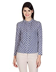 Meee Women's Body Blouse Shirt (TP-030_Grey_Large)