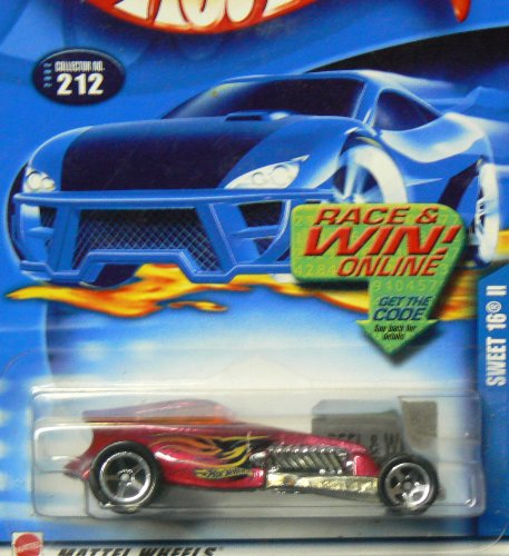 Hot Wheels 2002 #212 Sweet 16 II on Race and Win Card - 1