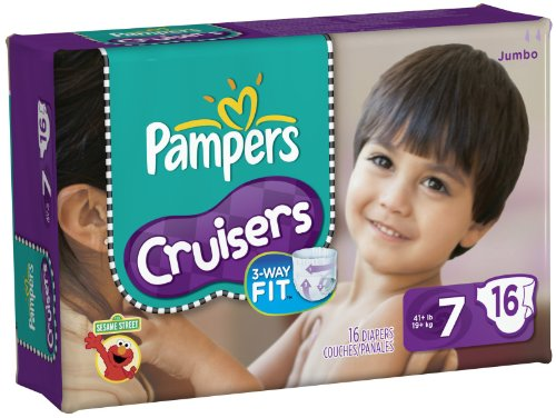 Pampers Cruisers Diapers Jumbo Pack Size 7 -- size: size 7
